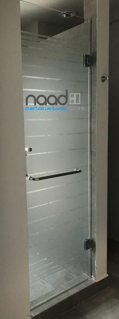 Puerta batiente cristal templado para ba o naad - Encimeras de cristal para banos ...