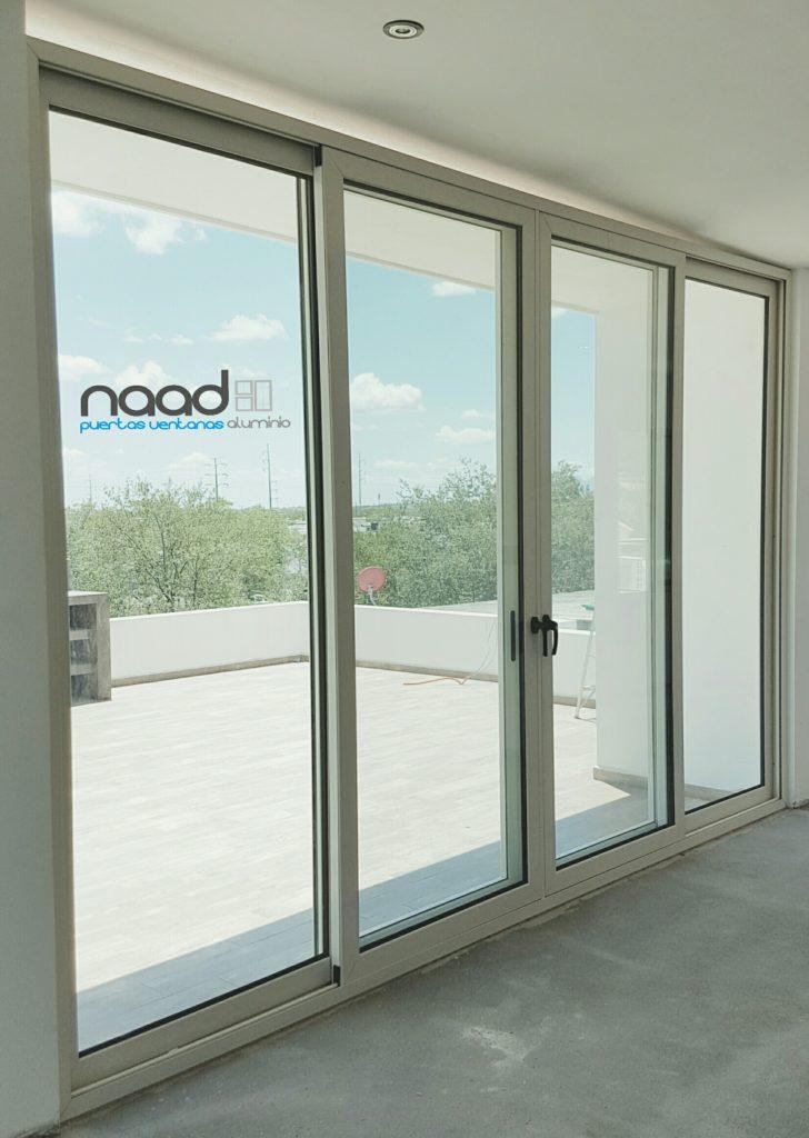 Puerta corrediza de aluminio eurovent premium naad for Puerta ventana de aluminio corrediza